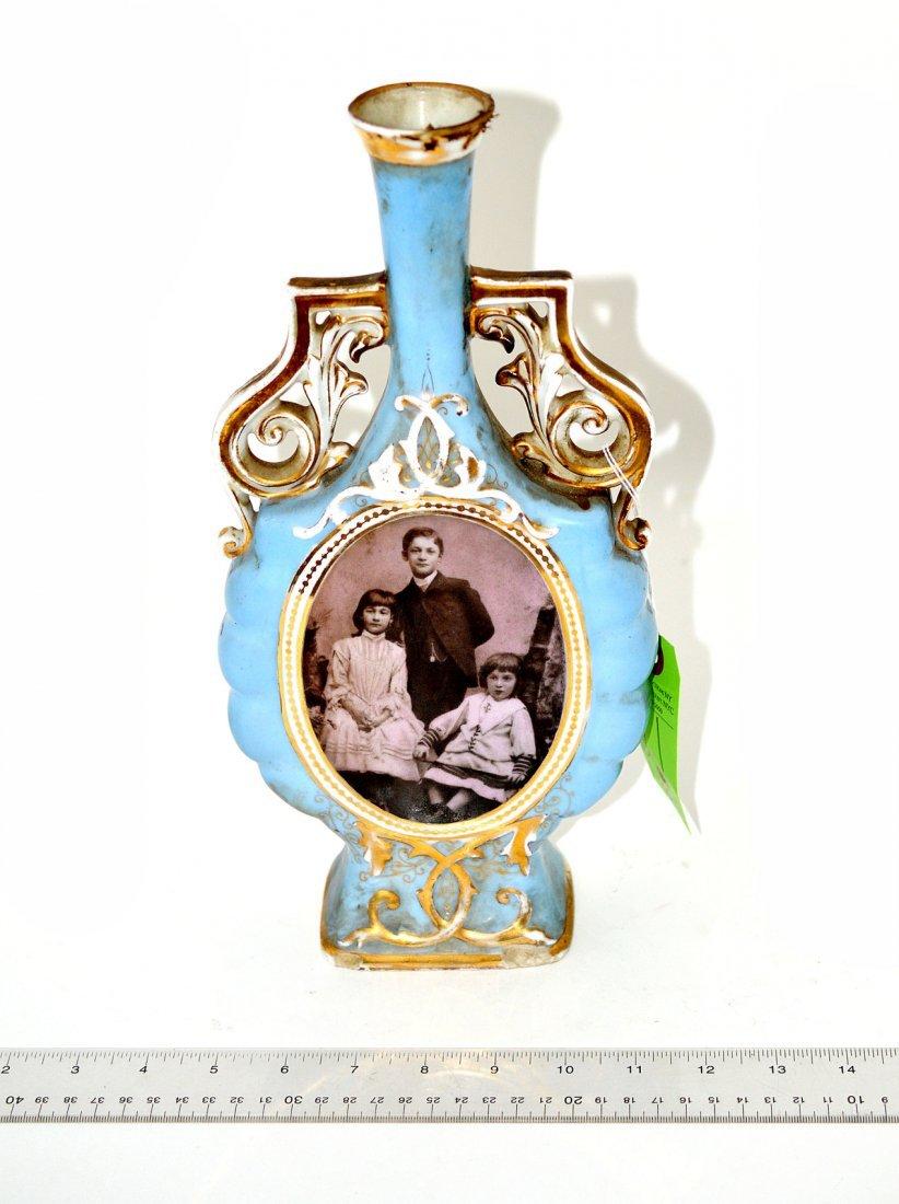 21: Antique Porcelain Portrait Vase