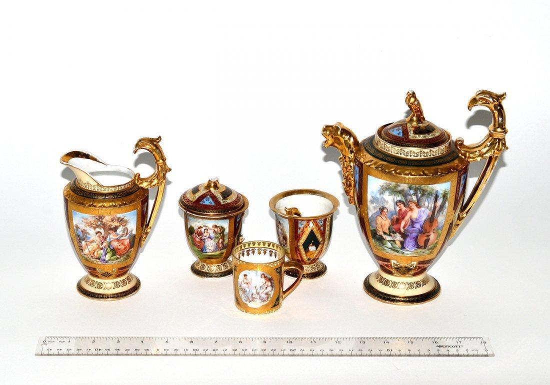 22: Group of Vienna Renaissance Revival Porcelain [5]