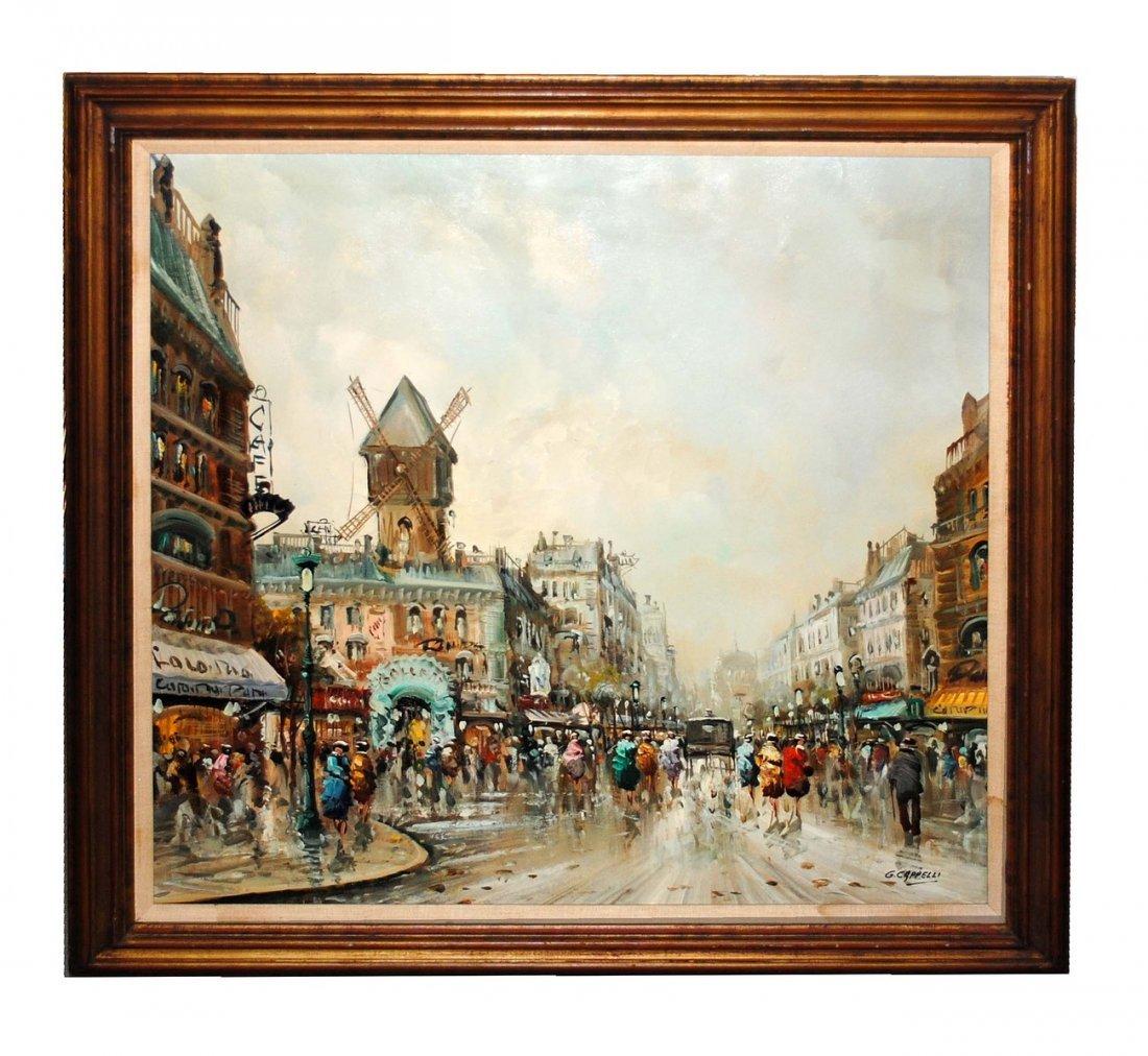 185: Giovanni Cappelli Oil on Canvas European Scene