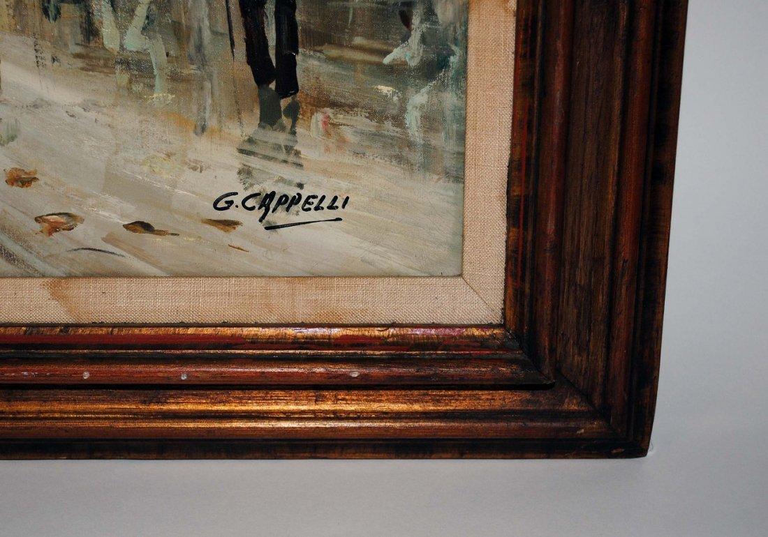 185: Giovanni Cappelli Oil on Canvas European Scene - 3