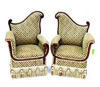 268 Pair of James Mont Style Armchairs