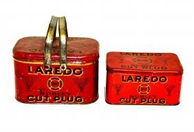 1: Two Laredo Cut Plug Tobacco Tins and Pouch