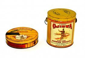 Two Ojibwa Tobacco Tins