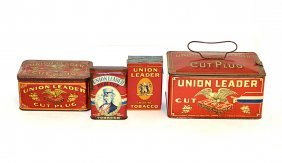 5: Eight Union Leader Tobacco Tins, Boxes, and Pouch