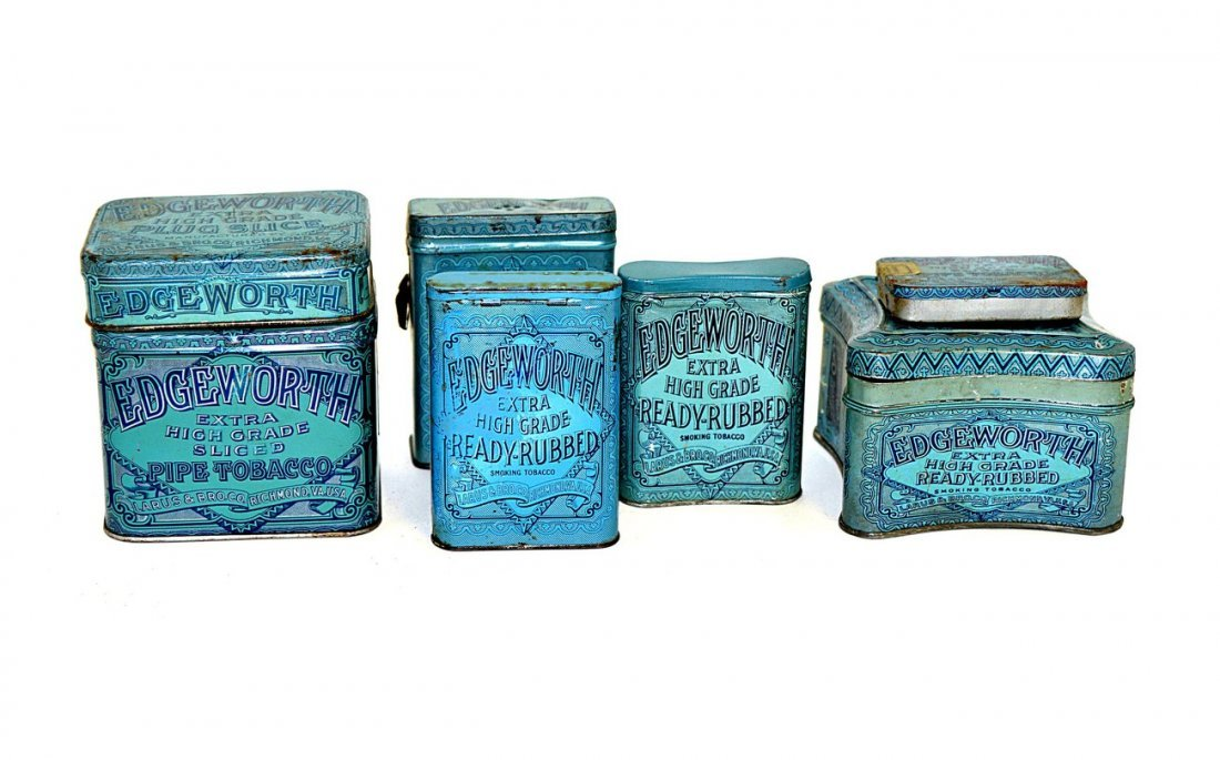 6: Seven Edgeworth Tobacco Tins - Assorted Sizes