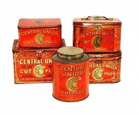 9: Five Central Union Tobacco Tins