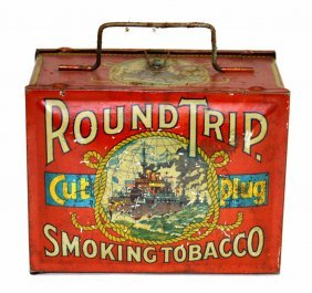 14: Round Trip Cut Plug Tobacco Tin