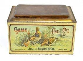 15: Game Fine Cut Tobacco Tin Store Bin
