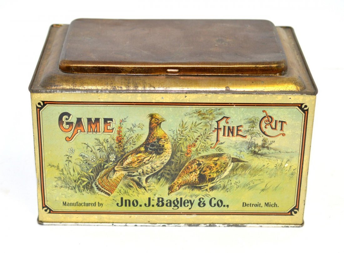 15: Game Fine Cut Tobacco Tin Store Bin