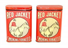 Two Red Jacket Smoking Tobacco Pocket Tins