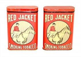 16: Two Red Jacket Smoking Tobacco Pocket Tins