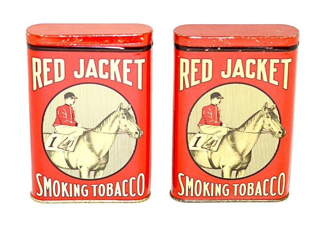 16: Two Red Jacket Smoking Tobacco Pocket Tins