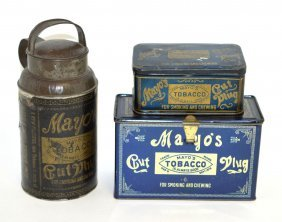 17: Three Mayo's Tobacco Tins