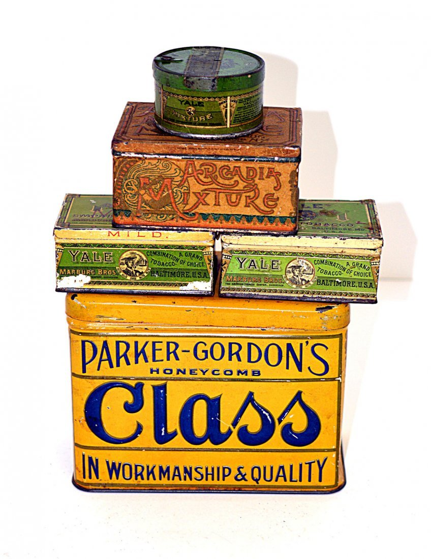 23: Arcadia, Class, and Yale Tobacco Tins
