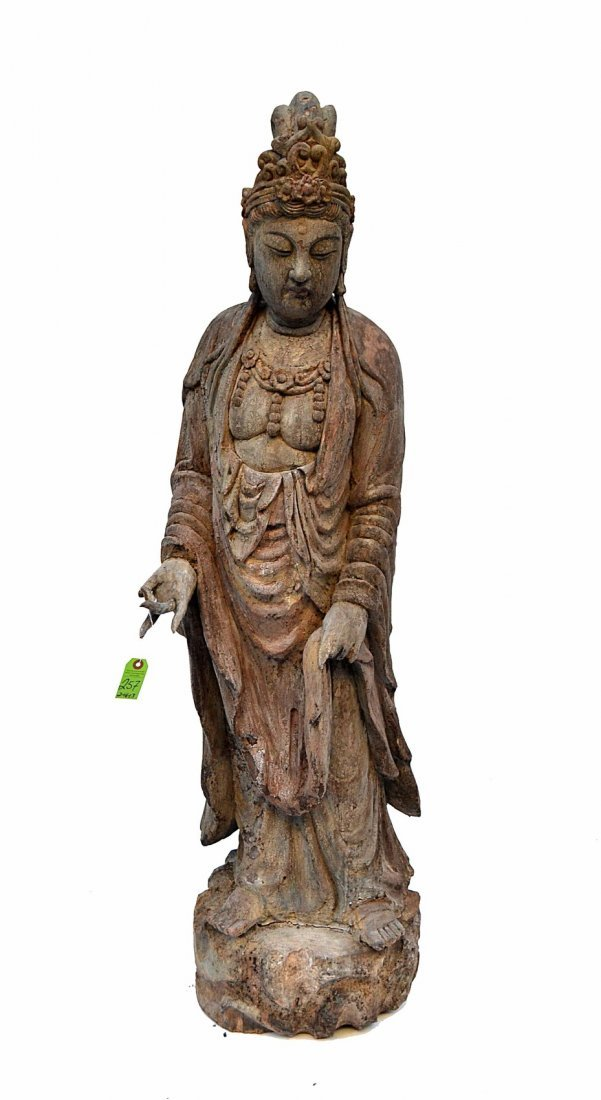 Antique Chinese Wood Figure
