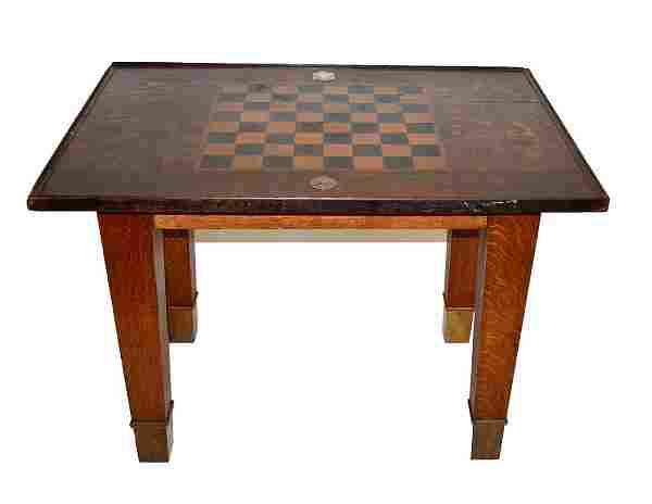 Antique Manhattan Chess Tournament Table