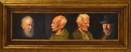 Dawley Oil on Masonite  Four Portraits