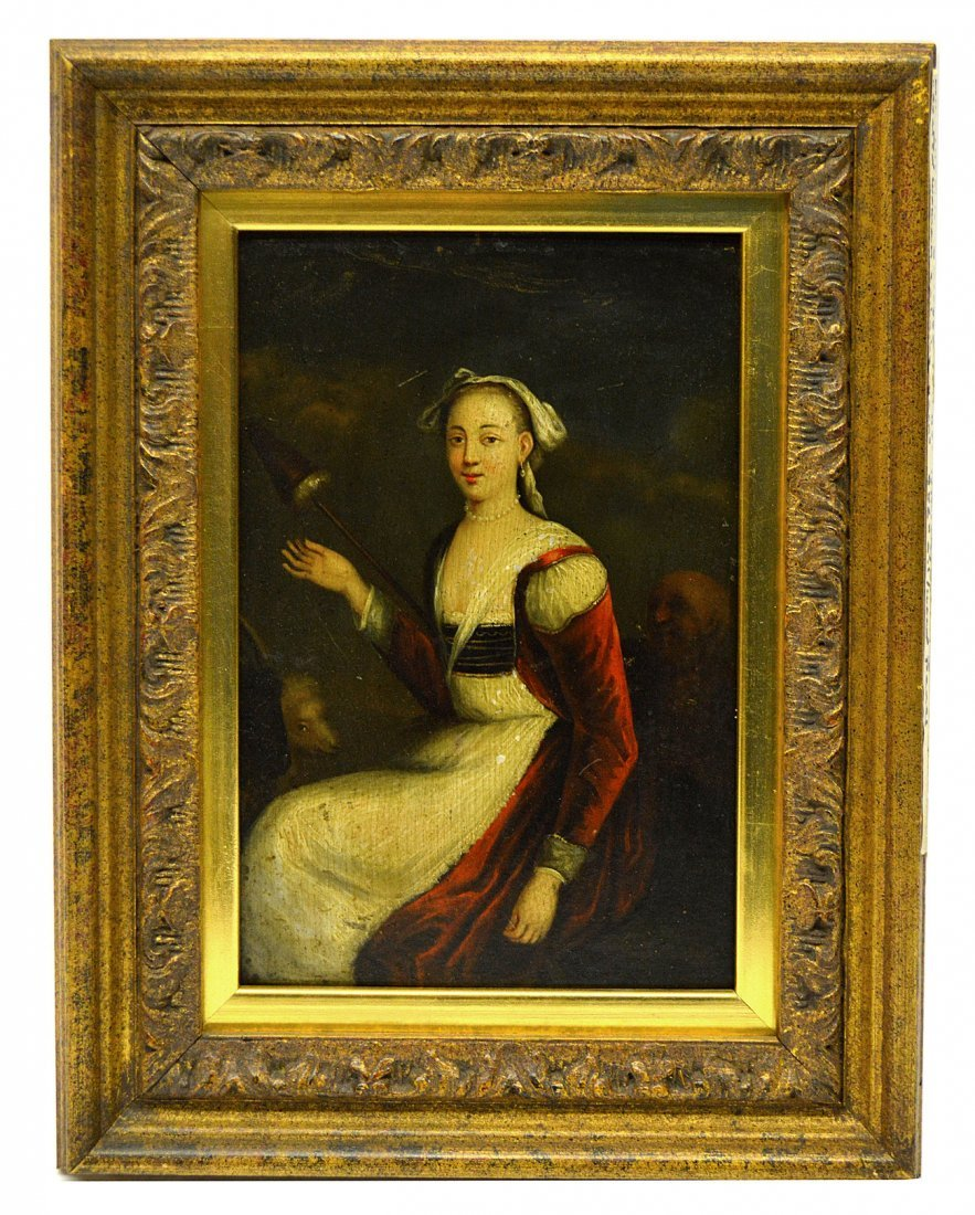 18th C. European Oil on Board