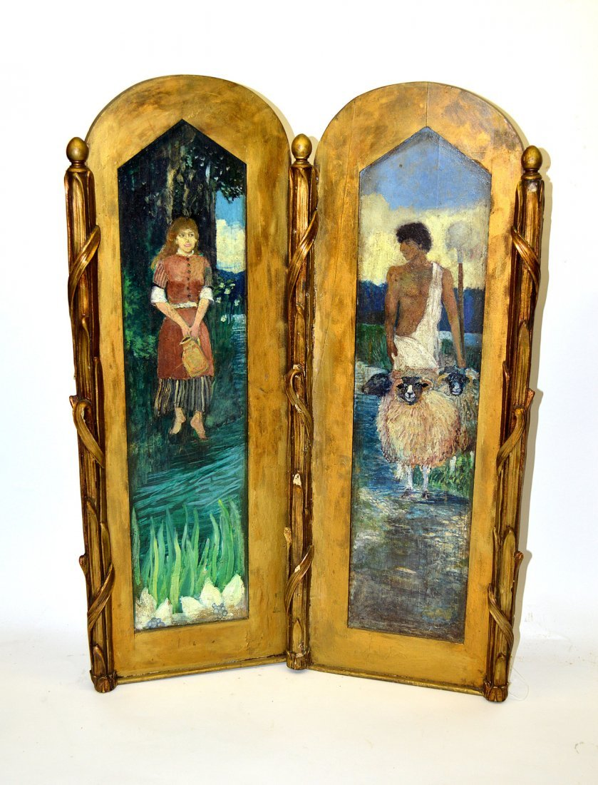 Art Nouveau Panel, Biptych - Young Couple
