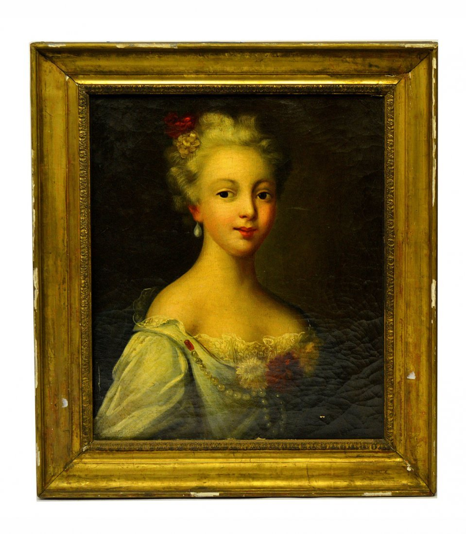 18th C. European, Oil on Canvas - Portrait
