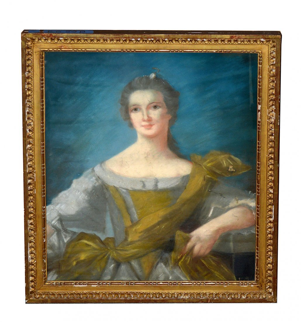 18th C. French, Pastel - Portrait of a Woman