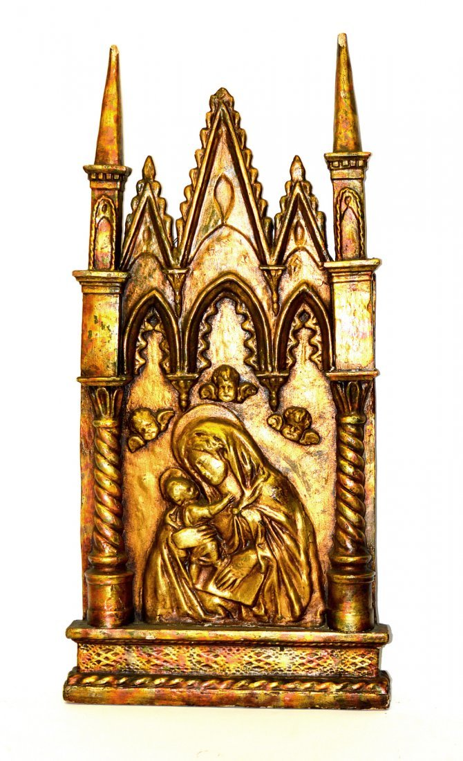 18th/19th C. Gothic Style Madonna & Child