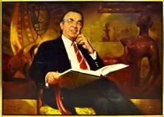 Marc Klionsky Oil on Canvas  Portrait of a Man