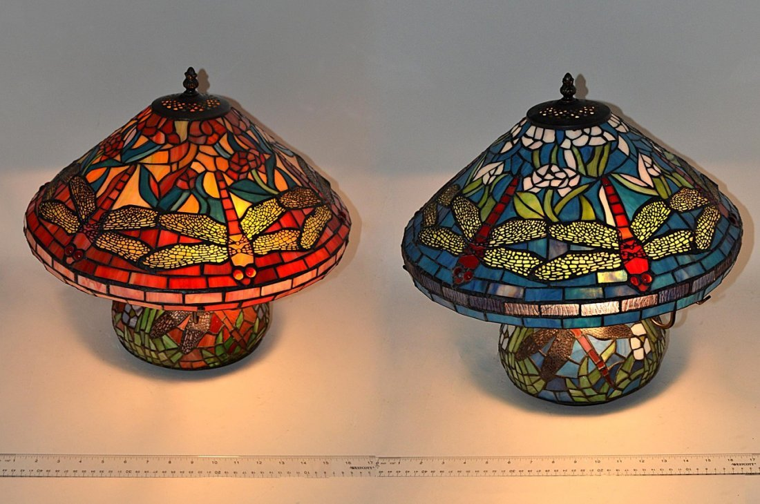 Two Tiffany Style Table Lamps