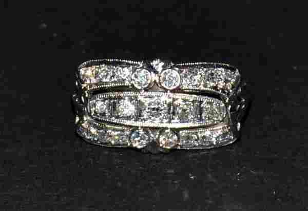Platinum & Diamond Cocktail Ring