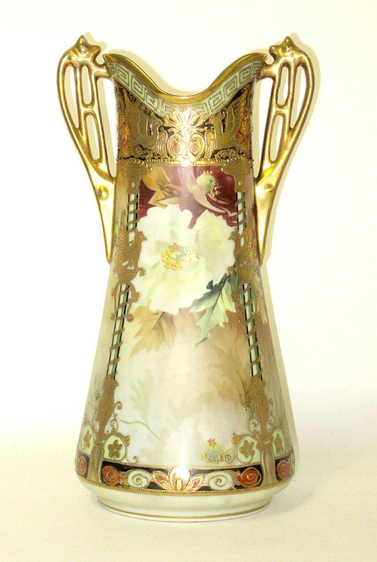 Nippon Porcelain Art Nouveau Vase