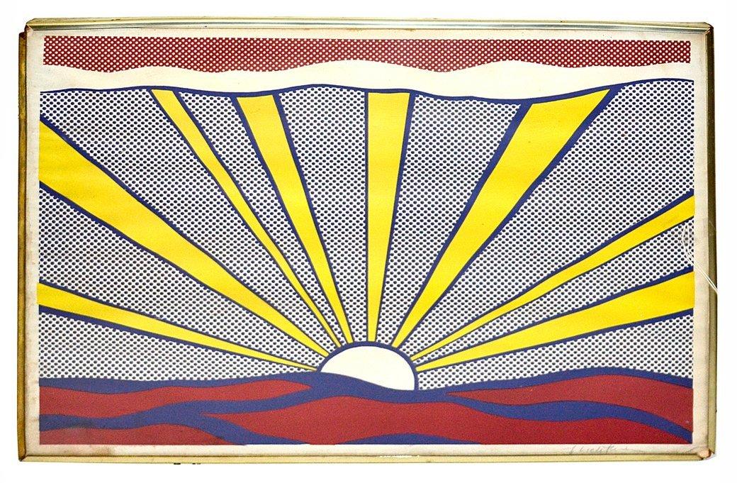 """Roy Lichtenstein, Offset Lithograph - """"Sunrise"""""""