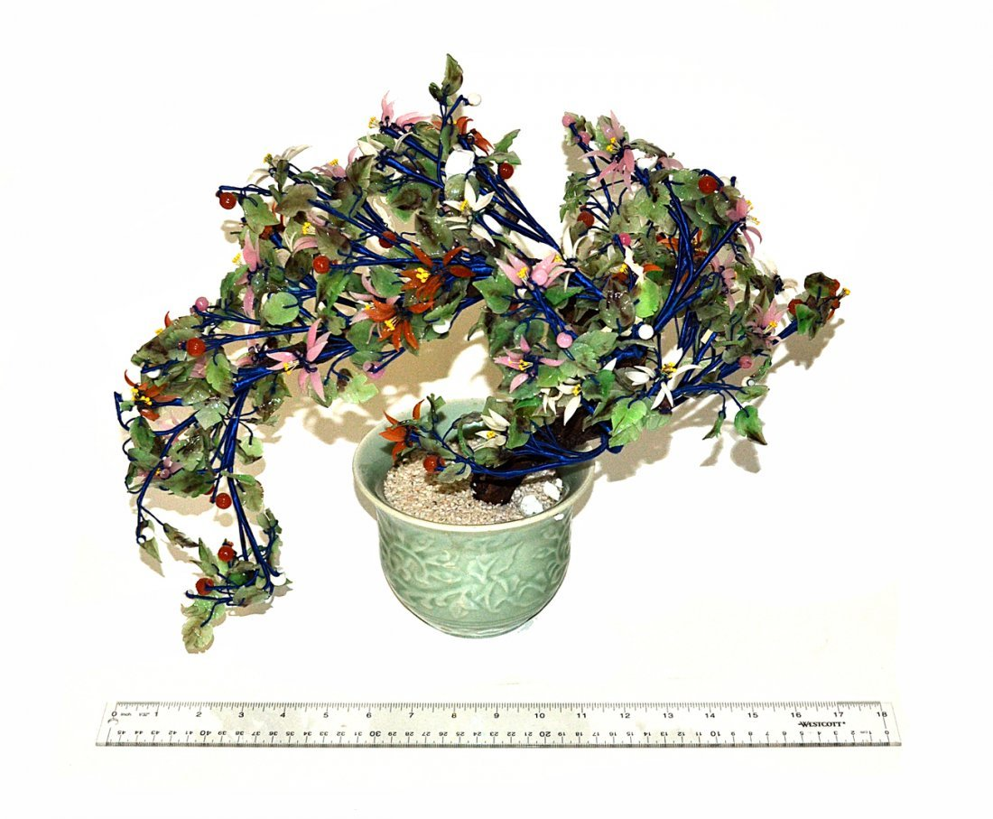 Chinese Colored Glass Bonsai Tree