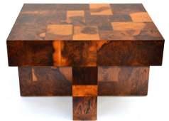 Paul Evans Burled Wood Side Table