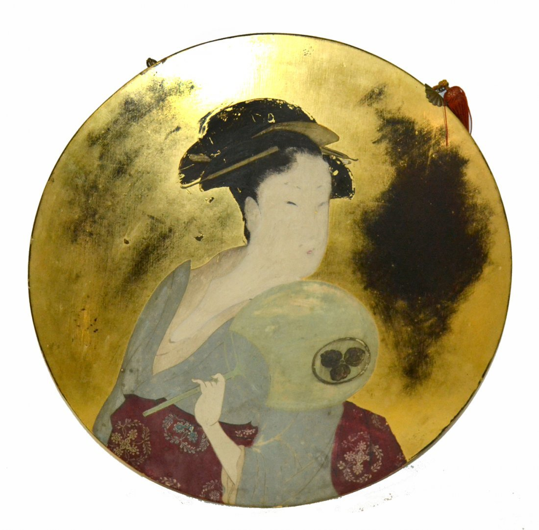 Painted Panel- Asian woman
