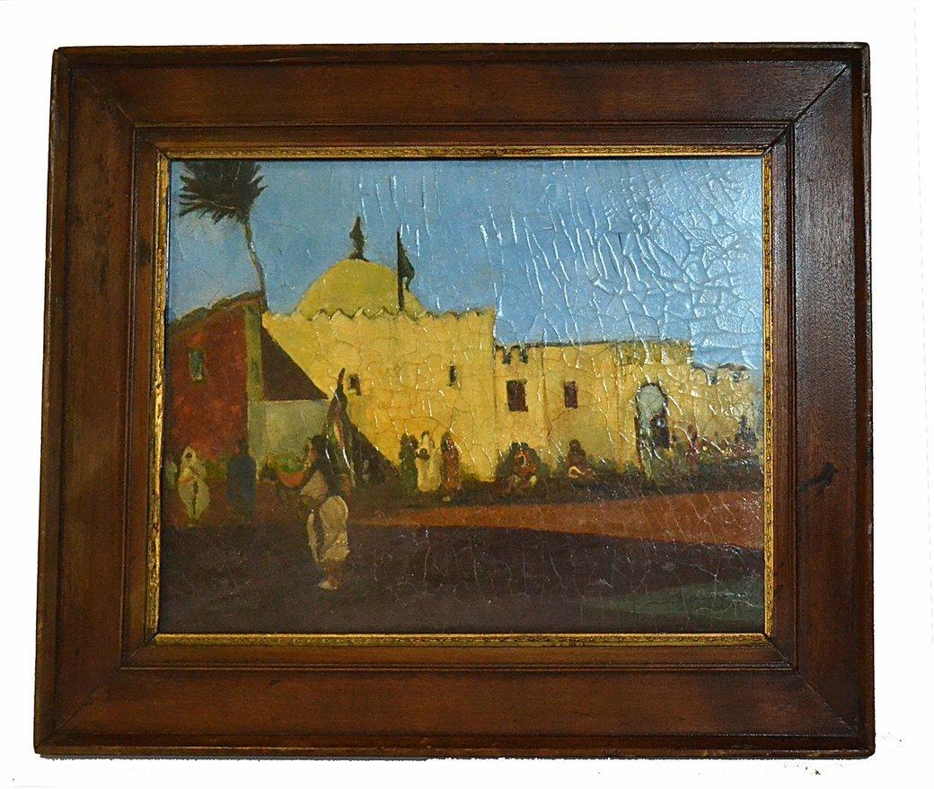 Oil on Canvas- Village Scene