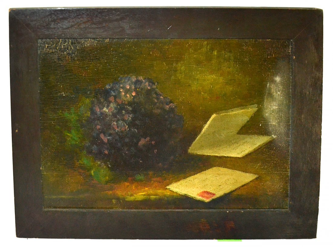 Oil on Board- Still Life and Letters