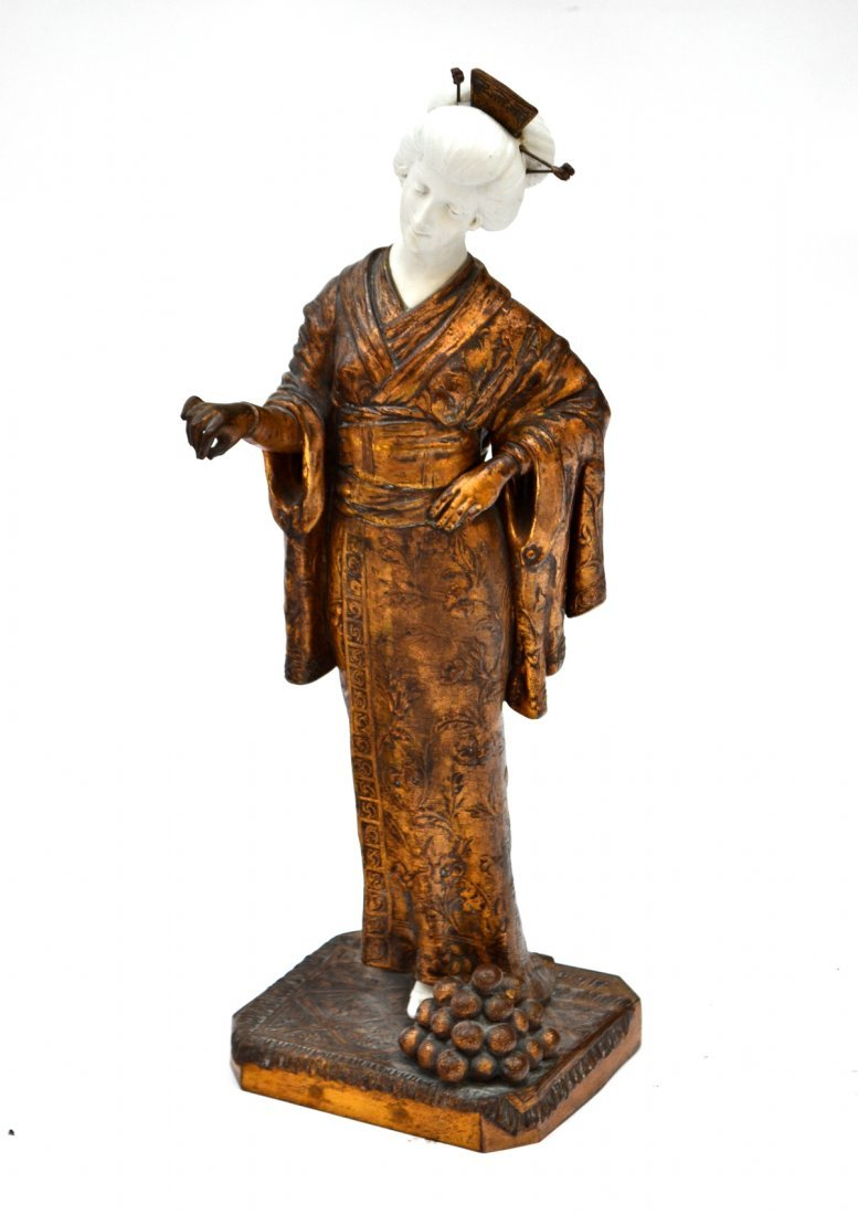 Dominique Alonzo Bronze & Parian Ware - Jap. Figure