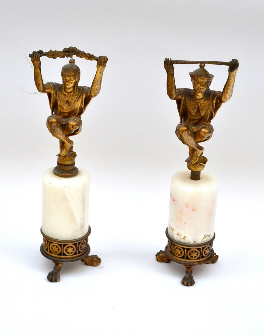 Pair of Asian Inspired Bronzes