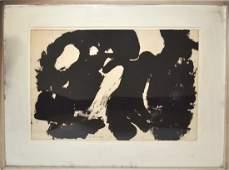 """James Brooks Oil on Paper - """"Number 6"""""""