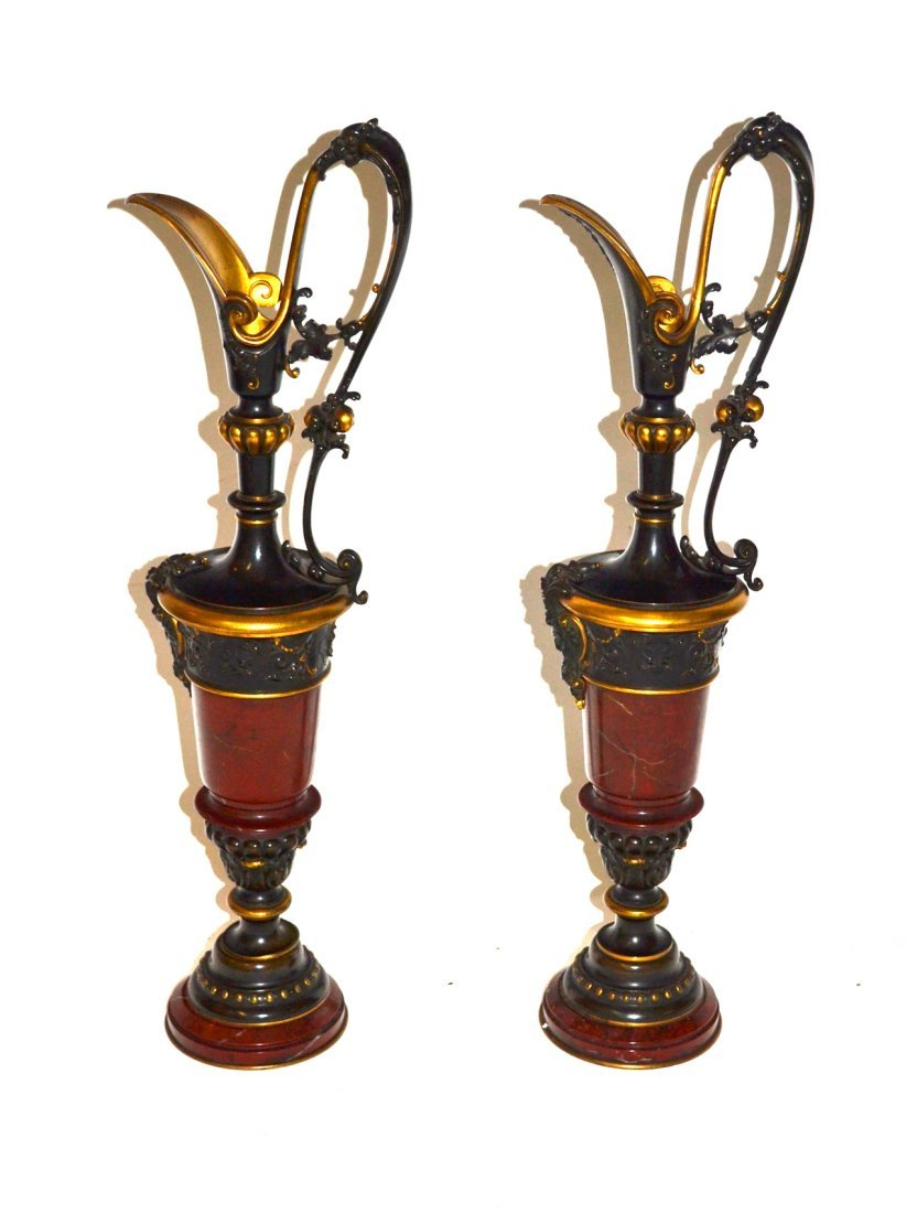 Pair of French Ewers