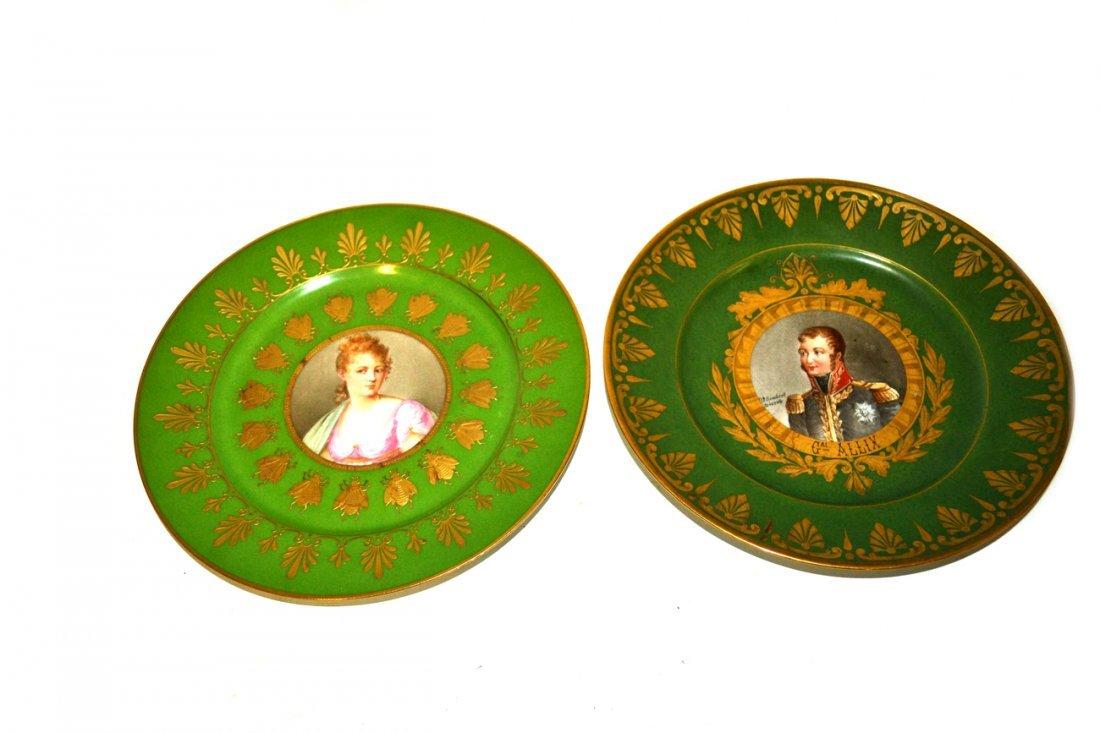 Two Sevres Portrait Plates