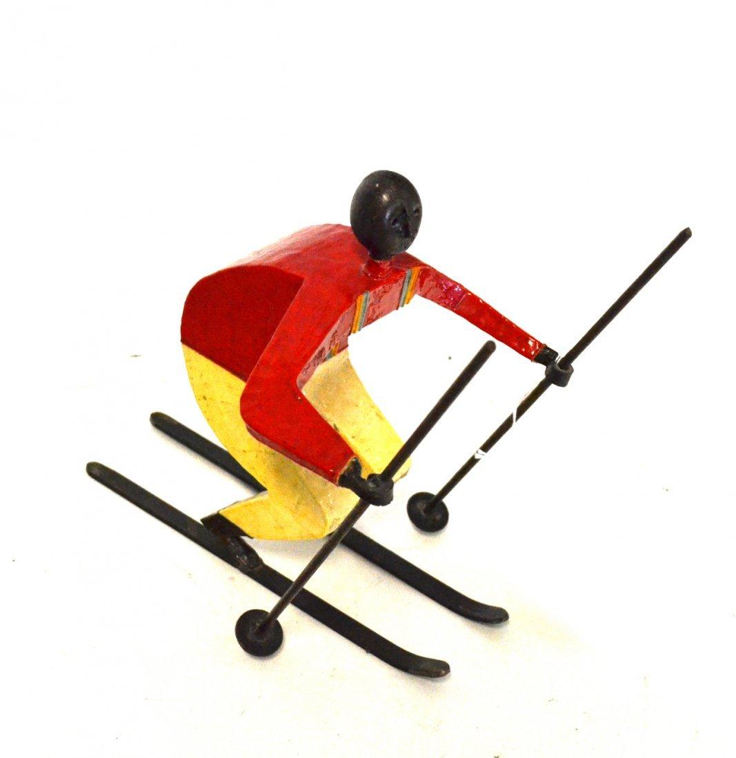 Sculpture of a Skier