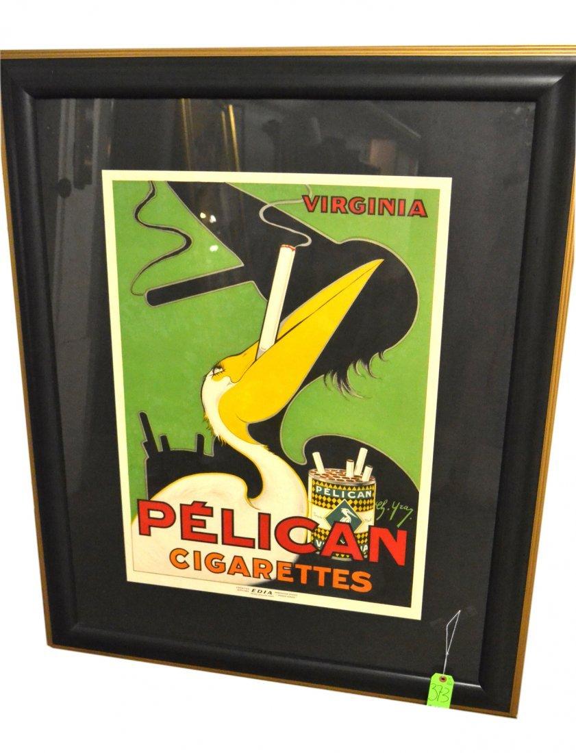 "Yray, Poster- ""Pelican Cigarettes"""