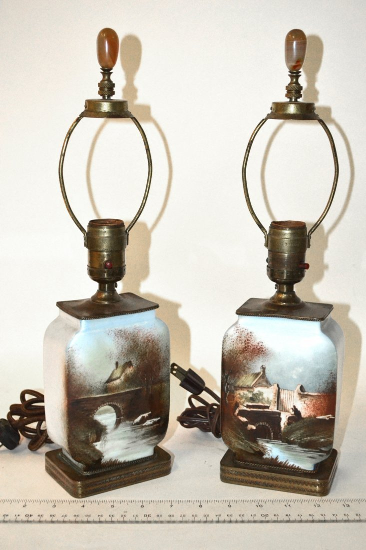 Pair of Scenic Lamps