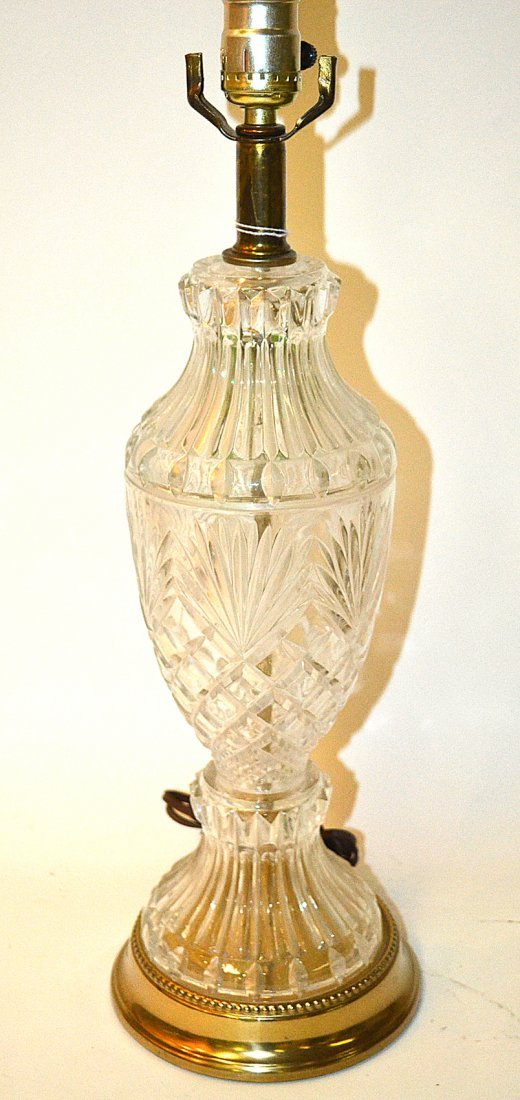 Glass Incised Lamp