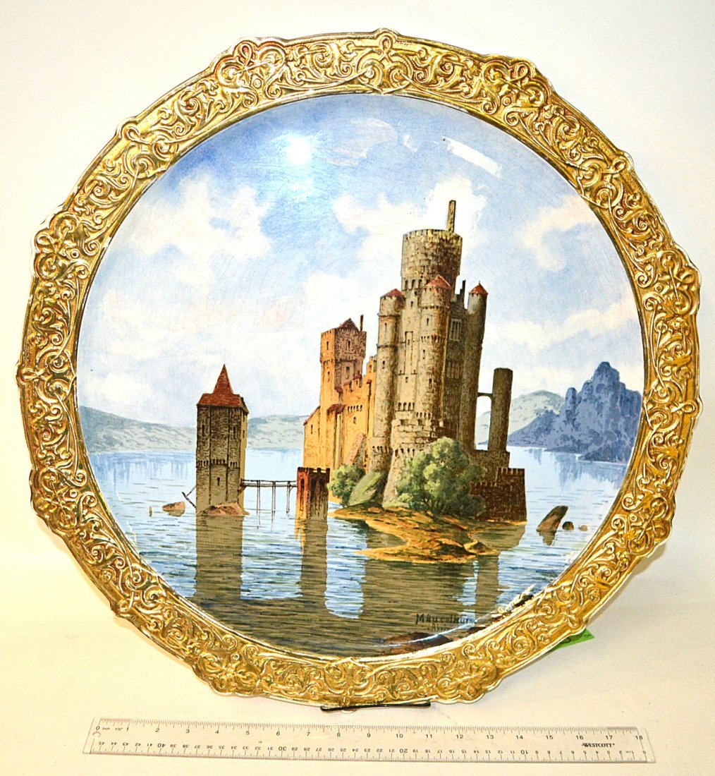 Central European Porcelain Pictorial Charger
