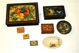 Vintage Russian Lacquer Boxes and Others
