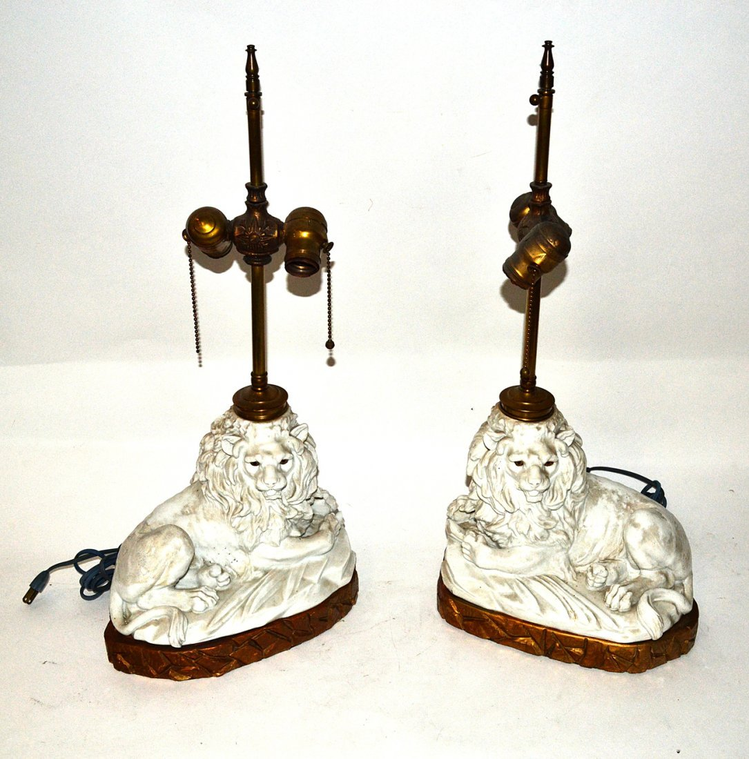 Pair of Staffordshire Lamps