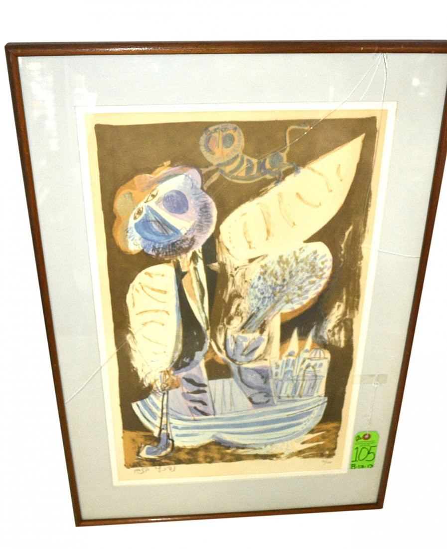 Napthali Bezem Lithograph, 'Abstract'