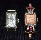 Two Gold Vintage Ladies' Wrist Watches